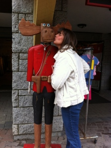 Moose kissing in Whistler! Why not?