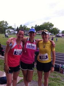 Partnering up before the Prince Edward County Half Marathon