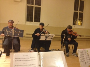 "Three ""hatted"" fiddlers!"