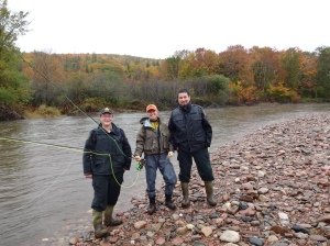 A biologist,  between two fisheries officers spells trouble!
