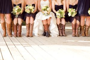 It was a cowboy boot kind of wedding!